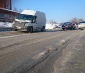 На ул. Черёмушной в Бердске произошло ДТП из-за колеи