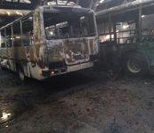 В бердском АТП сгорели два автобуса