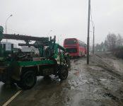 «Буроям» догнал междугородний автобус и перевернулся на трассе в Бердске