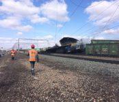 На станции Евсино Искитимского района тепловоз столкнулся с грузовым поездом