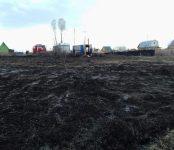 Поджигатель травы в Бердске попал в больницу
