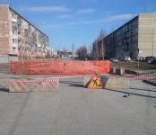 КБУ блокировало проезд по улице Советской в Бердске