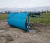 Фотофакт: Рухнул павильон на конечной остановке автобуса в Бердске