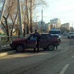 «Девятка» В 780 ЕУ 154 rus въехала в столб в Бердске