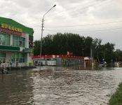 Фотофакт: Ливнёвка на «Вымпеле» в Бердске сработала на «троечку»во время первого летнего ливня