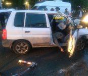 В Новосибирске погиб водитель Mazda Demio в лобовом столкновении с Suzuki