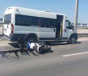 На бердском мосту произошло ДТП с участием мотоциклиста