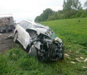В массовой аварии на трассе под Лебедёвкой серьёзно травмирован молодой бердчанин