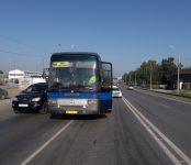 Междугородний автобус Новосибирск-Бийск с пассажирами попал в ДТП в Бердске