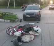 Водитель HondaHR-V из Новосибирска сбил скутериста в Бердске