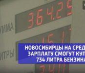 Нехитрая арифметика: Сколько бензина могут залить новосибирцы на среднюю зарплату?