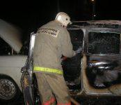Сгорела «Волга» на улице Горького в Бердске