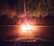 В Бердске ночью сгорел мопед