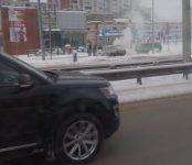 У KFC в Северном микрорайоне Бердска утром загорелась «девятка»