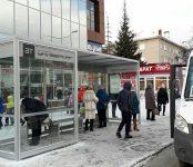 Прозрачный остановочный павильон установили в Бердске