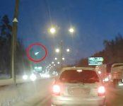 Падающий метеор наблюдали автомобилисты Бердска (видео)