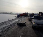 Cмертельное тройное ДТП произошло на трассе Р-256 под Лебедёвкой