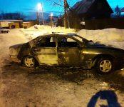 «Мицубиси Диамант» сгорел на улице Краснофлотская в Бердске