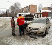 14-я маршрутка протаранила «Опель» на «Семи ветрах» в Бердске
