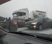 Несколько аварий произошло сегодня утром на трассе под Бердском