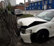 Ударился головой новосибирец в жёстком ДТП на аварийно-опасном перекрёстке в Бердске