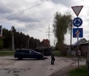 Легковушка перевернула грузовик фирмы «Комус» в Бердске