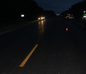 23-летний автолюбитель  из Юрги  на иномарке смертельно травмировал пешехода  на трассе Р-256 под Черепаново