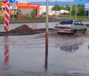 Не работает ливнёвка на Лунной в Бердске в районе «Орбиты» (фото)