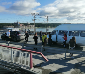 Маршрутка из Бердска с пассажирами попала в ДТП на мосту