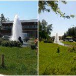 Видео: Фонтан воды вырвался из гидранта напротив пожарной части в Бердске