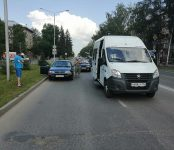 Маршрутка №14 попала в ДТП в центре Бердска