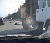 Мусоровоз насмерть сбил велосипедиста на переходе в Новосибирском районе