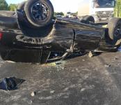 ГИБДД: Ребёнок не пострадал в перевернувшемся авто благодаря ремням безопасности