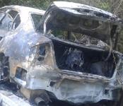 Пожарные Бердска ищут хозяина сгоревшего «Subaru Legacy»