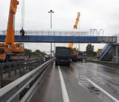 В Новосибирске восстановили мост, обрушенный бердчанином