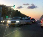 Устроила массовое ДТП жительница Искитима на Toyota Opa на трассе в Бердске