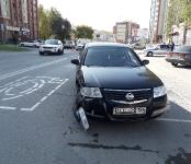 Девушки на Range Rover и Nissan Almera столкнулись на Красной Сибири в Бердске