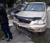 «Хонда» не пропустила «Тойоту» на перекрёстке в Бердске