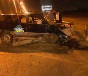 Пьяный водитель протаранил ограждение на Советском шоссе и госпитализирован