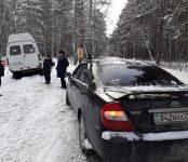 18-я маршрутка улетела в кювет в районе «Сибиряка» в Бердске