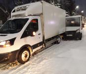 Маршрутка №14 протаранила грузовой фургон в центре Бердска