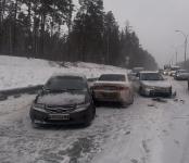 Девушка на «Хонде» организовала 10-бальную пробку на трассе в Бердске