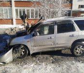 Из-за короткого замыкания сгорела Mazda Tribute в Бердске