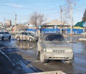 KIA Sportage «размотал» Toyota Allion на регулируемом перекрёстке в Бердске