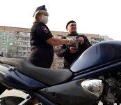 Проверили мотоциклистов Бердска инспекторы ДПС областного полка ГИБДД