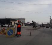 В Бердске продолжается текущий ямочный ремонт дорог