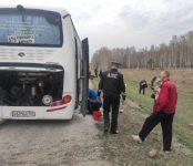 Горящий на трассе Р-256 междугородный автобус помог потушить сотрудник ГИБДД региона