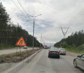Бердское шоссе ремонтируют по технологии Superpave