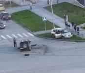 Две «Тойоты» не разъехались без жёсткого столкновения на перекрёстке в Бердске