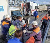 Тройное ДТП на мосту через Бердь устроил пострадавший водитель грузовика «Исузу»